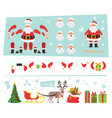 santa claus for animation vector image vector image