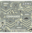 seamless military pattern 11 vector image vector image