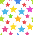 Seamless Texture with Colorful Stars Elegance Kid vector image vector image