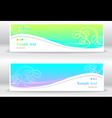 Set abstract summer marine banners vector image vector image