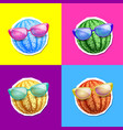 set of colorful summer watermelons vector image
