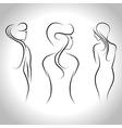 sitting women vector image vector image