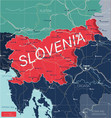 slovenia country detailed editable map vector image vector image