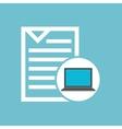social media laptop document vector image vector image