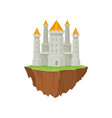 stone island castle on white background antique vector image vector image