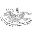 thai yantra tattoo vector image vector image