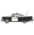 the old american police car vector image vector image