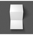 Trifold mockup on transparent background vector image vector image