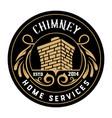 vintage chimney logo layered vector image vector image