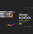 web page design template for design school studio vector image vector image