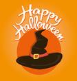 Witch hat Halloween vector image vector image