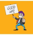 Happy Businessman Giving Thumbs Up Isolated on vector image