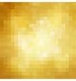 Abstract retro gold mosaic background vector image