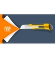 Knife Cut Paper vector image