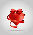 3d heart with ribbon t-shirt design vector image