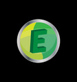 3d letter e symbol vector image