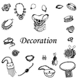 a variety of decorations vector image