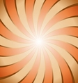 Abstract brown and orange ray twirl background vector image