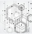 abstract connect hexagonal structure background vector image vector image