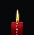 Advent candle red 18 vector image vector image