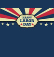 American labor day horizon background vector image vector image