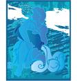aquarius background design vector image vector image