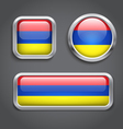 Armenia flag buttons vector image