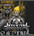 assassin sport mascot logo design vector image