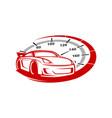 auto speed vector image vector image