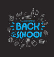 back to school greeting card template vector image vector image