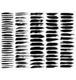 black ink grunge brush strokes vector image