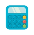 blue calculator class supplie school vector image
