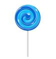 blue swirl lollipop sugar candy vector image vector image
