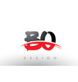 bo b o brush logo letters with red and black vector image vector image