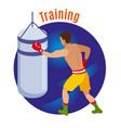 box training circle background vector image