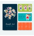 business card with a picture of children vector image vector image