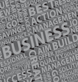 Business words typography vector image vector image