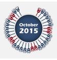 calendar 2015 October template vector image vector image