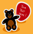 Cartoon-black-bear-with-sign vector image