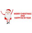 cartoon funny santa claus waving hand isolated on vector image vector image