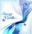 Christmas abstract greeting background vector image vector image
