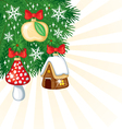 christmas retro decor vector image vector image