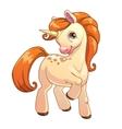 Cute cartoon standing unicorn vector image vector image