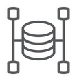 data warehouse line icon data and analytics vector image vector image