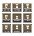 disposable coffee cup icons and signs set vector image vector image