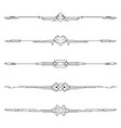 dividers tribal tattoo elements set vector image