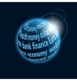 Finance planet icon vector image vector image