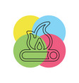 fire wood icon - campfire - firewood vector image