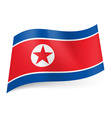 Flags icon North Korea 01 vector image