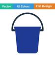 Flat design icon of bucket vector image vector image
